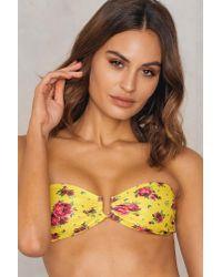 NA-KD - Multicolor Metal Loop Bandeau Bikini Yellow Flower - Lyst