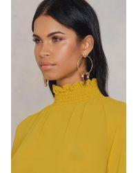 NA-KD - Metallic Multi Stone Circle Earrings - Lyst