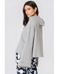 NA-KD - Gray Wide Sleeve Hoodie - Lyst