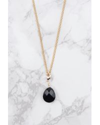 NA-KD | Metallic Stiff Hanging Crystal Necklace | Lyst