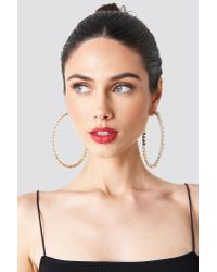 Trendyol - Metallic Large Rhinestone Earrings - Lyst