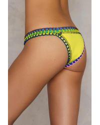 Hot Anatomy - Neoprene Multicolor Crochet Pantie - Lyst