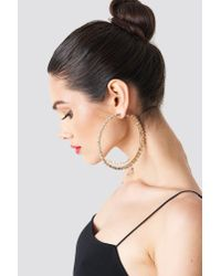 Trendyol - Metallic Large Rhinestone Earrings - Lyst