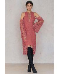 Keepsake - Multicolor Stay Close Lace Midi Dress - Lyst