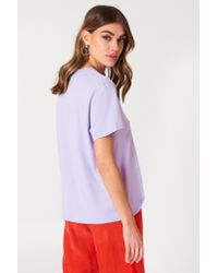 NA-KD - Basic Oversized Tee Purple - Lyst