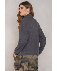 Rut&Circle | Gray Cicci Rib Knit Polo | Lyst