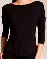 Cosabella - Black Talco 3⁄4 Sleeve Top - Lyst