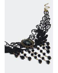 Nasty Gal - Black Bewitch 'em Lace Choker - Lyst