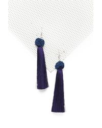 Nasty Gal - Blue Hang Ups Tassel Earrings - Lyst