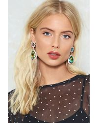Nasty Gal - Green Every Night In Your Dreams Teardrop Earrings Every Night In Your Dreams Teardrop Earrings - Lyst