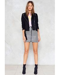Nasty Gal - Black A Night On The Tiles Checkerboard Skirt - Lyst