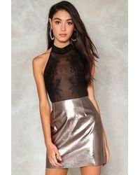 Nasty Gal - Black Give It A Swirl Embellished Bodysuit - Lyst