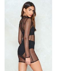 Nasty Gal - Black Mesh From The Party Dress - Lyst