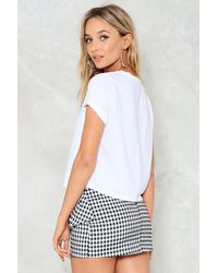 Nasty Gal | Black Stay By My Side Gingham Skirt Stay By My Side Gingham Skirt | Lyst
