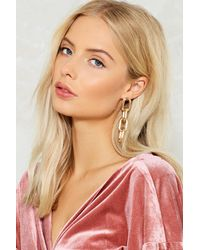 Nasty Gal | Metallic Chunky Link Earrings Chunky Link Earrings | Lyst