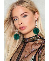 Nasty Gal - Green Acrylic Circle & Pearl Earrings Acrylic Circle & Pearl Earrings - Lyst