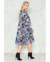 Nasty Gal - Blue Grow See The World Floral Dress - Lyst