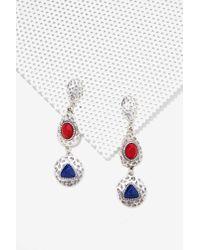 Nasty Gal - Metallic Primary Drop Earrings - Lyst
