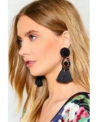 Nasty Gal - Black Large Tassel Earrings Large Tassel Earrings - Lyst