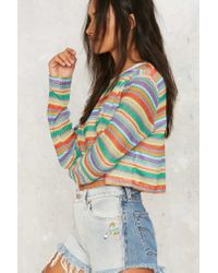 Motel - Multicolor Rainbow Or Later Striped Top - Lyst