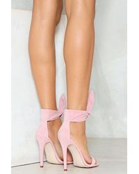 Nasty Gal - Pink Top Knot 2 Part Pumps Top Knot 2 Part Pumps - Lyst