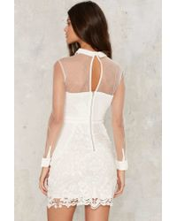 Nasty Gal - White Avery Crochet Lace Dress - Lyst