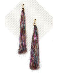 Nasty Gal - Metallic Havin' A Party Tinsel Earrings - Lyst
