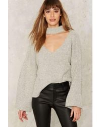 Nasty Gal | Multicolor Patricia Bell Sleeve Sweater | Lyst