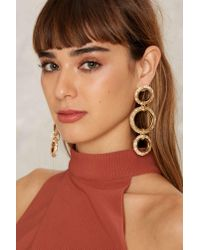 Nasty Gal - Multicolor Third Time's A Charm Drop Earrings - Lyst