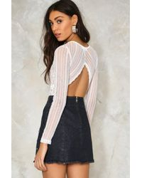 Nasty Gal - White Violet Cut-out Bodysuit - Lyst