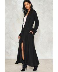 Nasty Gal | Black Another One Bites The Duster Coat | Lyst