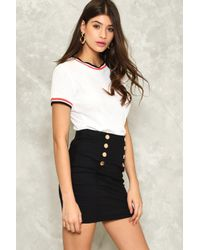 Nasty Gal | Black Button And On Mini Skirt | Lyst