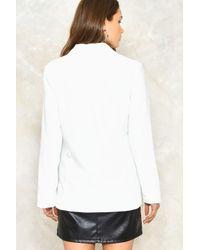 Nasty Gal - White Boardroom Blazer Boardroom Blazer - Lyst