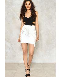 Nasty Gal - White Laura Tie Mini Skirt - Lyst