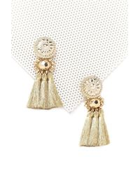 Nasty Gal - Metallic Golden Large Tassel Earrings Golden Large Tassel Earrings - Lyst