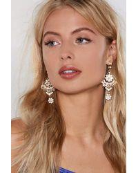 Nasty Gal - Metallic Get Into Swing Earrings - Lyst