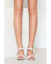Nasty Gal White On The Go Strappy Sandal