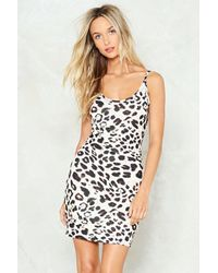 Nasty Gal - White Leopard Print Mini Dress Leopard Print Mini Dress - Lyst