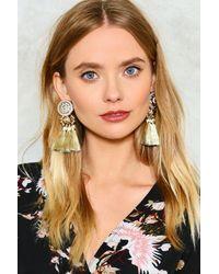 Nasty Gal | Metallic Golden Large Tassel Earrings Golden Large Tassel Earrings | Lyst