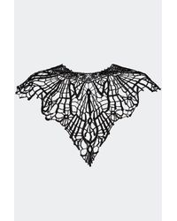 """Nasty Gal - Black """"queen Of The Damned Lace Collar"""" - Lyst"""