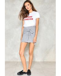 Nasty Gal | Gray It's A Tie Plaid Skirt It's A Tie Plaid Skirt | Lyst