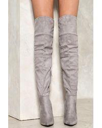 Nasty Gal   Gray Legs For Days Stiletto Boot Legs For Days Stiletto Boot   Lyst