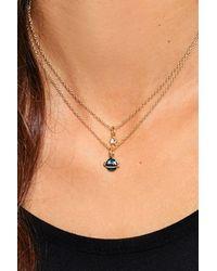 Nasty Gal - Metallic Cosmic Pendant Layered Necklace Cosmic Pendant Layered Necklace - Lyst