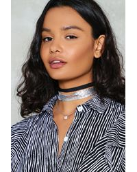 Nasty Gal - Metallic Chainmail Choker Pack Chainmail Choker Pack - Lyst