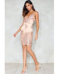 Nasty Gal - Pink I Will Survive Sequin Dress - Lyst