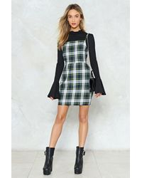 Nasty Gal - Green Check Strappy Dress Check Strappy Dress - Lyst