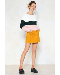 Nasty Gal - Multicolor Every Breaking Wave Cropped Sweater - Lyst