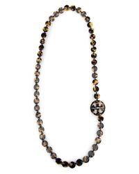 Tory Burch - Multicolor Logo Necklace - Lyst