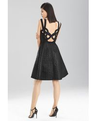 Natori - Black Lacquer Basket Weave Dress - Lyst