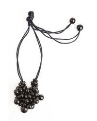 Natori | Black Josie Horn Cluster Long Necklace | Lyst